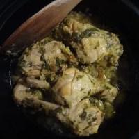 chicken tagine with preserved lemons & green olives