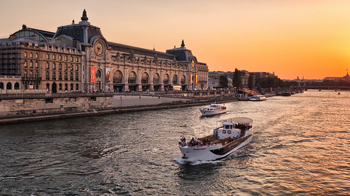 The Musée d'Orsay at sunset