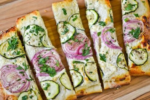 Zucchini & Red Onion Flatbread-16
