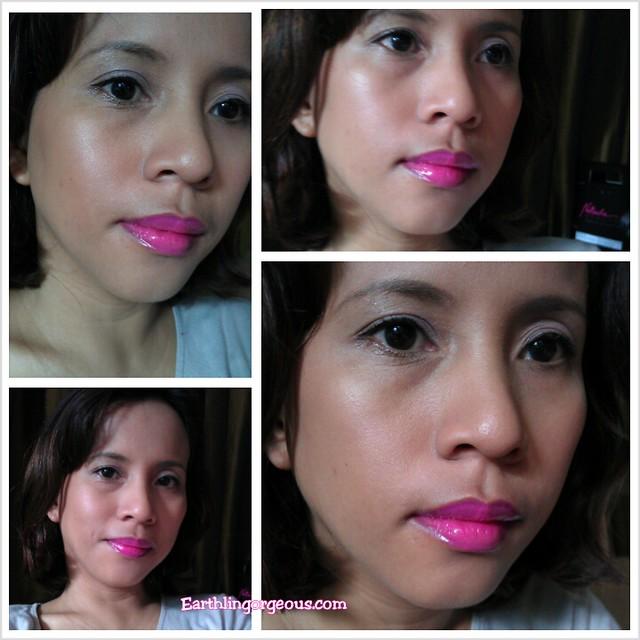 Look 1: Bold Lips Basic Eyes using Natasha Beauty Lip& Eye Duos