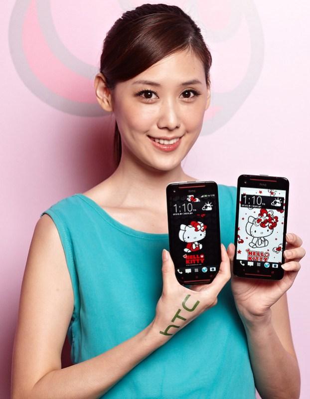 照片圖說:HTC Butterfly s Hello Kitty限量版內建8款量身打造特製桌布,搭配四核心與大容量電池頂級規格,讓消費者感受今秋濃厚的Hello Kitty可愛旋風。