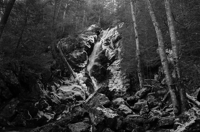 Early ice on Race Brook Falls