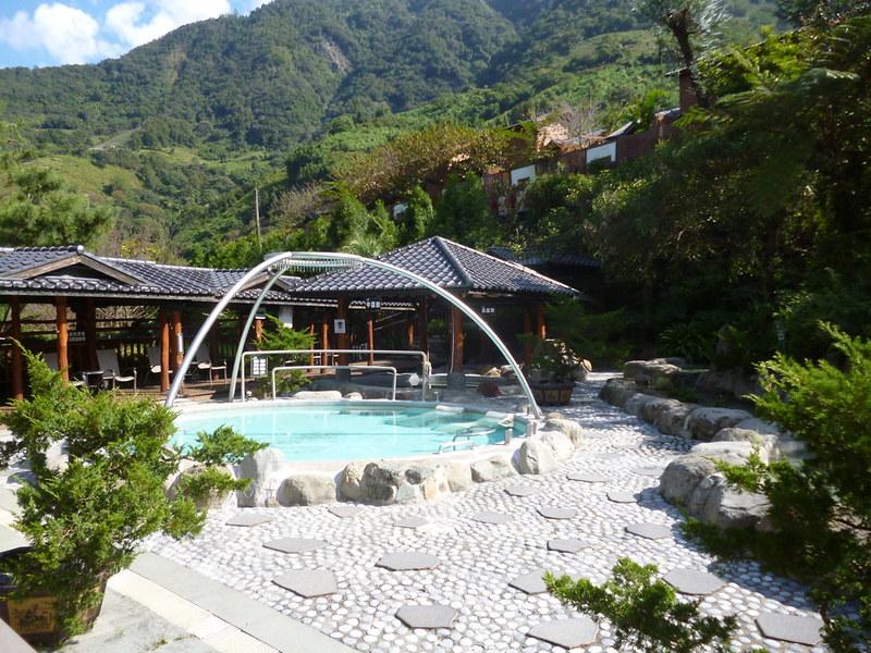 Open air hot springs