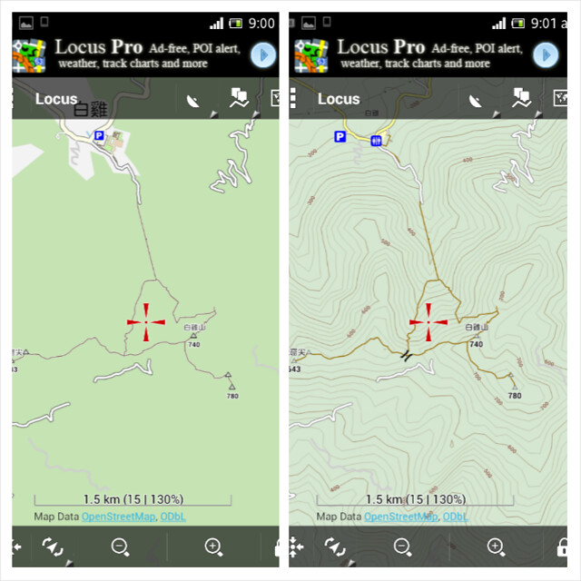 Two Vector Maps 兩向量地圖比較
