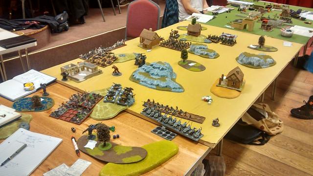 War of the Ring WotR Scenario Troll Trouble game in progress 1