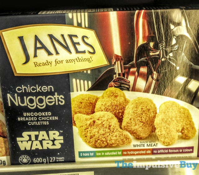SPOTTED ON SHELVES IN CANADA: Janes Star Wars Chicken