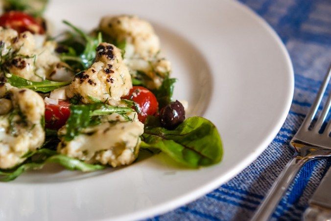 Ottolenghi's grilled cauliflower salad