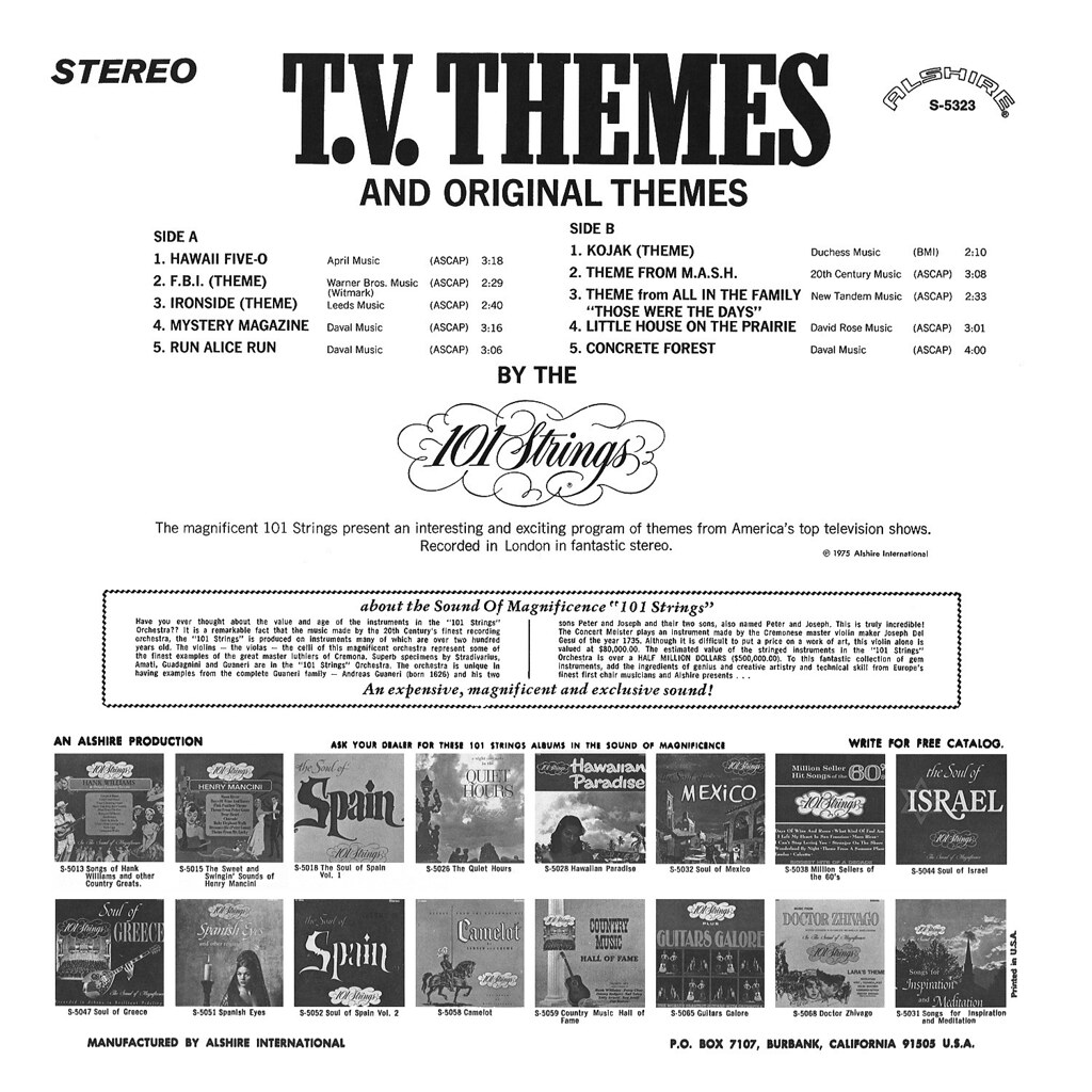 101 Strings - TV Themes