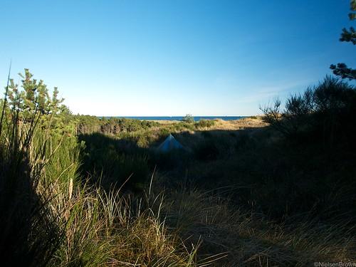 Camp overlooking Ålbæk Bay