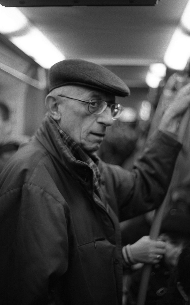 Praktica BC1 - Interesting Man in the Tram