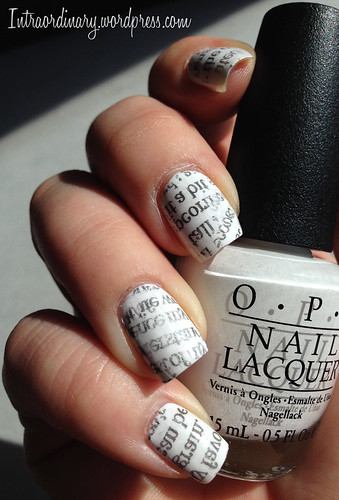 Newspaper Nails by intraordinary