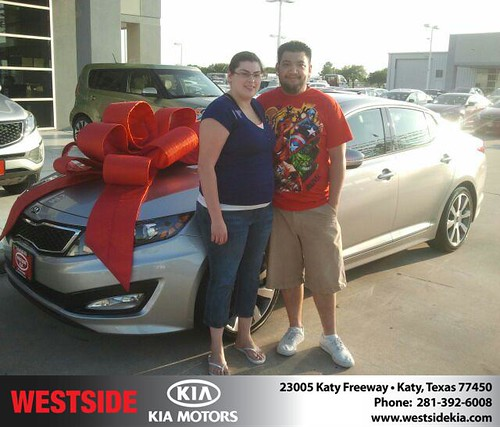 Thank you to Steven Le on the 2013 Kia Optima from Gil Guzman and everyone at Westside Kia! by Westside KIA