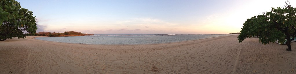 Panorama of the Nusa Dua Beach