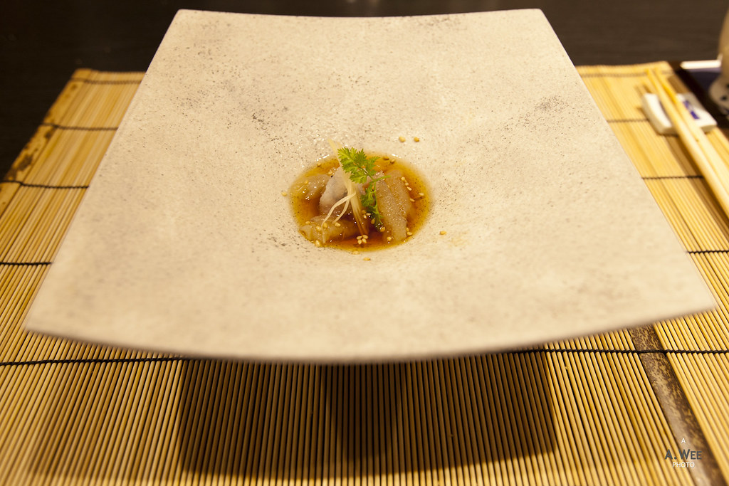 Roe in Broth with Sesame and Ginger