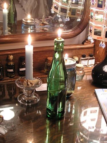 money bottle lamp