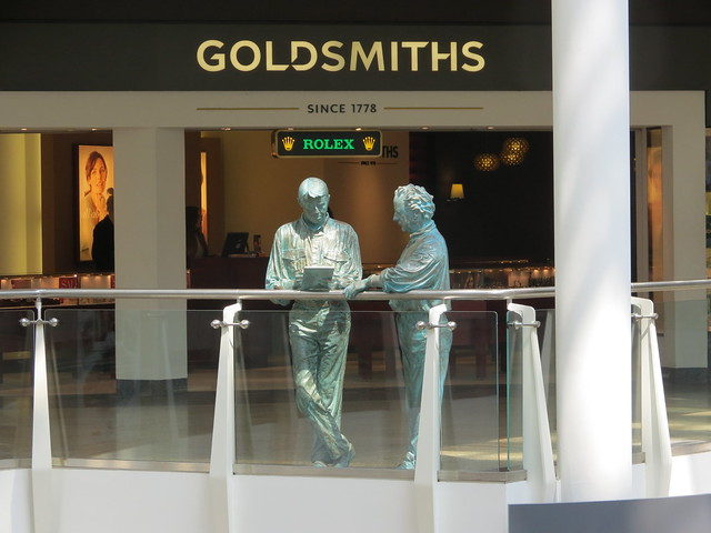 Statues in Cribbs Causeway Mall