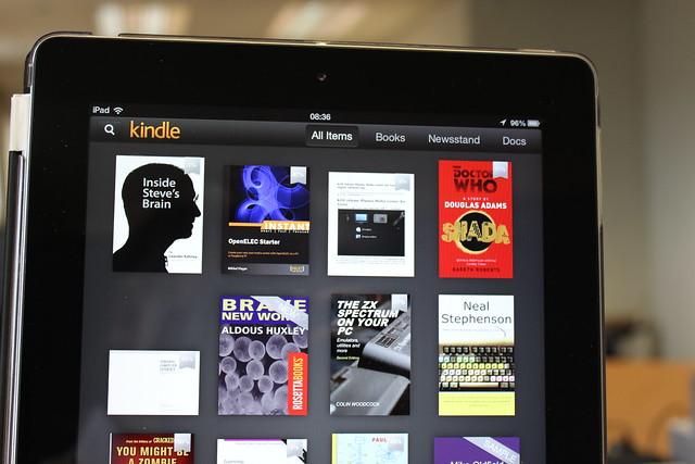 Amazon Kindle on an iPad