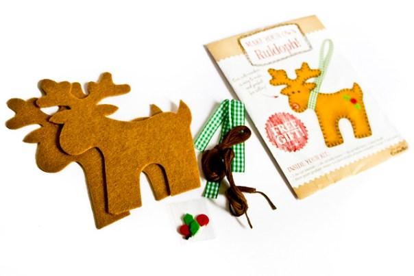 Felt reindeer kit on craftseller magazine