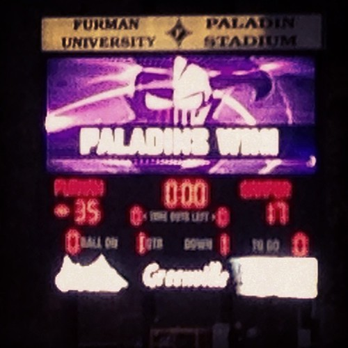 #homeatfurman. Furman wins!