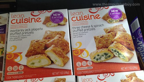 Lean Cuisine Monterey Jack Jalapeno Stuffed Pretzels and Three Cheese & Spinach Stuffed Pretzels