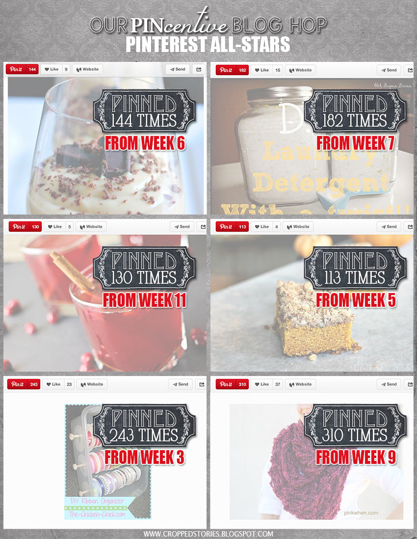The PINcentive Blog Hop Pinterest All-stars via Cropped Stories