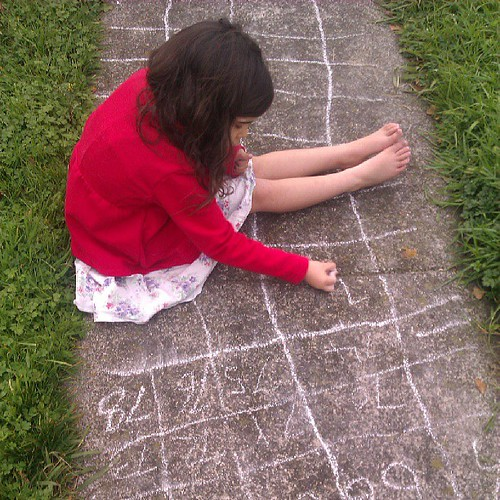 Worlds longest game of hopscotch!