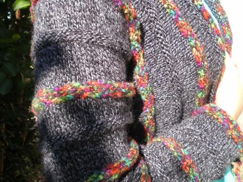 gilet kimono tricot