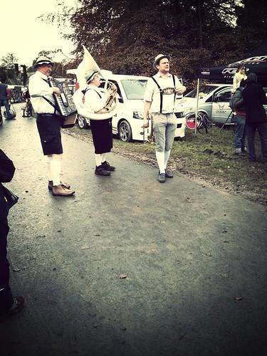 Oompah band at Rapha Supercross