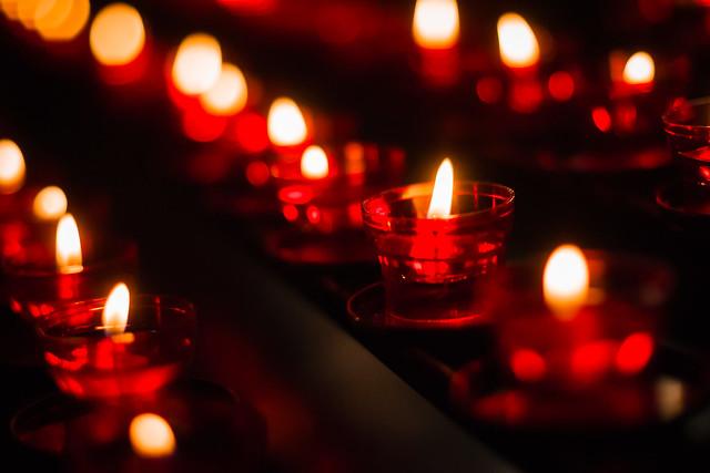 Candles, St. Stephen's Basilica, Budapest, Hungary