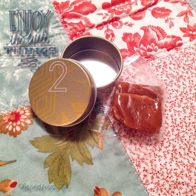 Dec 2 - unwrapped {day 2's Advent calendar treat; sea salt caramel! Mmmmmm} #photoaday #adventcalendar #christmas #treat #caramel