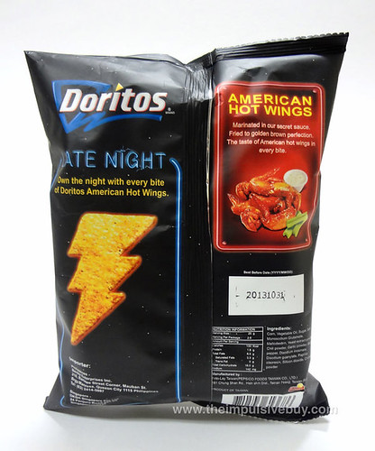 Frito-Lay Late Night American Hot Wings (Taiwan) Back