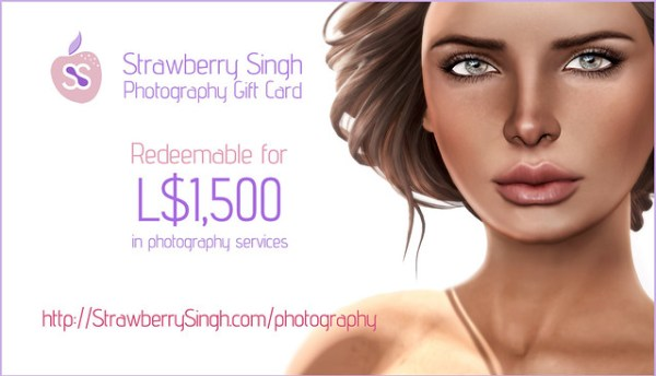 Strawberry Singh Photography - Gift Card for Single Portraits