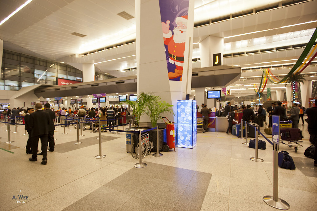 International Terminal at Delhi