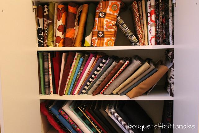 fabric cupboard, stoffenkast