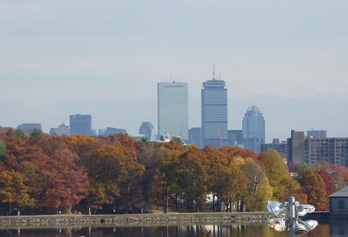 Boston skyline from Alumni Stadium