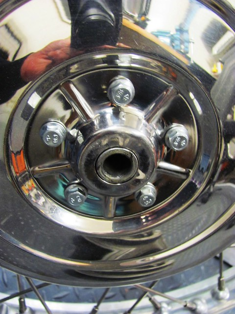 Spacer Sleeve Inserted into Right Side of Wheel