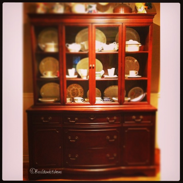 Aug 1 - wood {my buffet is made of cherry wood} #photoaday #wood #cherrywood #furniture