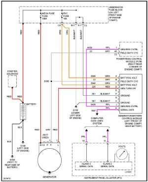 alternator wiring harness diagram ?  Chevrolet Colorado