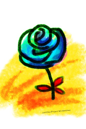 """""""Martian rose"""" (#243: Project 365 Sketches)"""