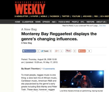 Monterey Bay Reggaefest displays the genre's changing influences. - Monterey County Weekly_ Entertainment