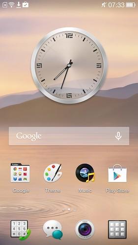 Home screen ของ Oppo N1 Mini
