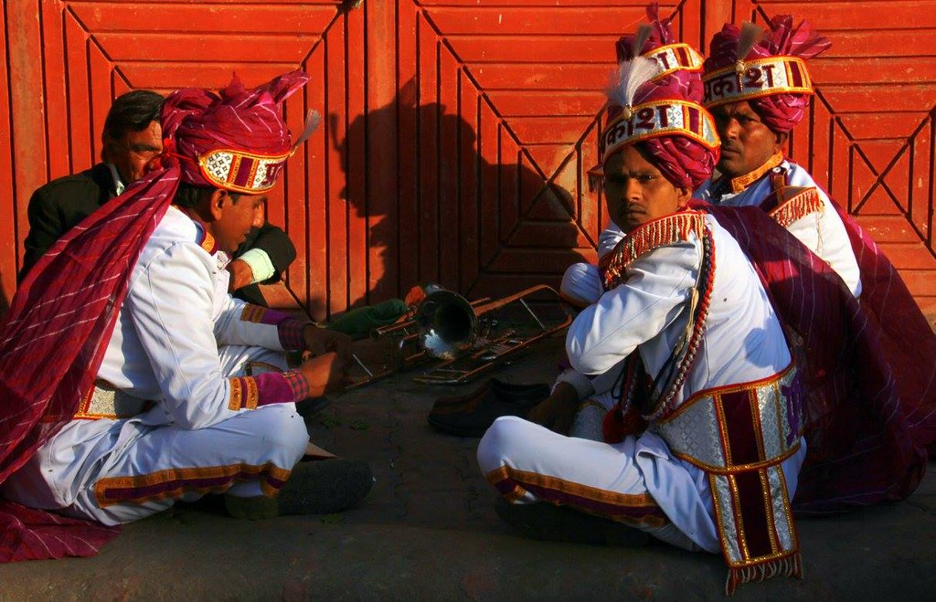 wedding band at rest in jaipur