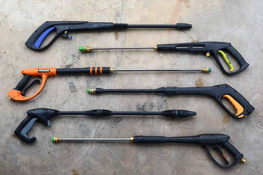 Pressure washer spray wands/guns