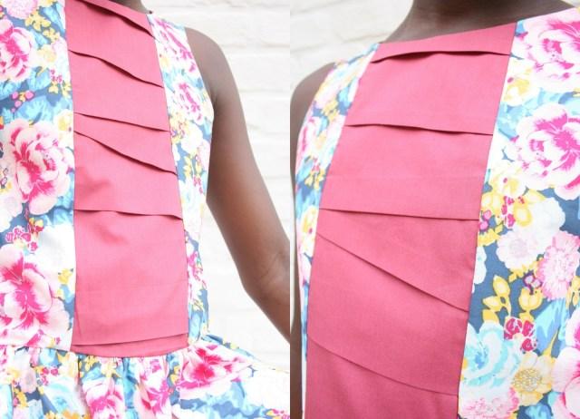 improvisational pleating dress (pleating details)
