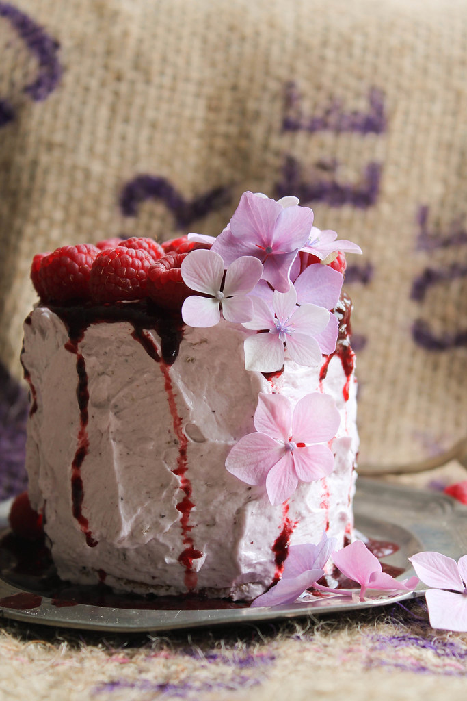 recette layer cake framboise