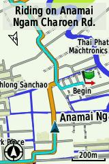 แผนที่บน Garmin Edge 810