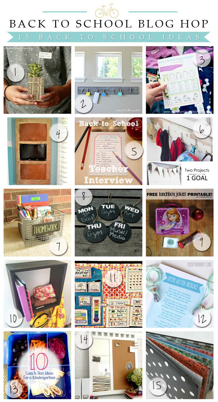 15 fantastic back to school ideas!!