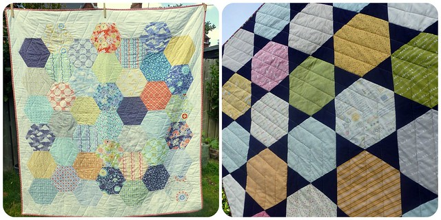 Hexie Quilts Class samples