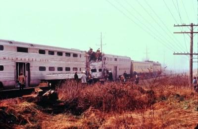 Milwaukee Rd wreck 1973