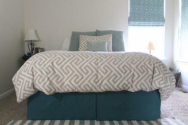 DIY Pleated Bedskirt After